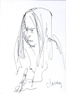 Untitled (Portrait), Illustration 53 in the book Sketchbook (Sun Valley, Idaho)