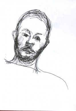 Untitled (Portrait), Illustration 62 in the book Sketchbook (Sun Valley, Idaho)