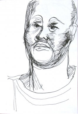 Untitled (Portrait), Illustration 65 in the book Sketchbook (Sun Valley, Idaho)