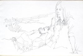 Untitled (Bud and Betty), Illustration 3 in the book Sketchbook (Cheyenne, Wyoming)