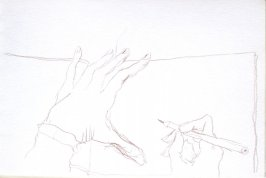 Untitled (Artist's hands), Illustration 5 in the book Sketchbook (Cheyenne, Wyoming)
