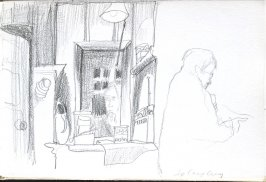 In Camp Curry, Illustration 9 in the book Sketchbook (Cheyenne, Wyoming)