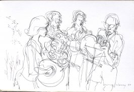Untitled (Musicians), Illustration 13 in the book Sketchbook (Cheyenne, Wyoming)