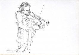 Untitled (Violinist), Illustration 17 in the book Sketchbook (Cheyenne, Wyoming)