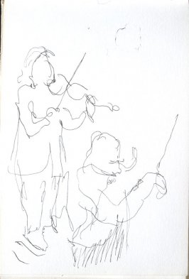 Untitled (Musicians), Illustration 18 in the book Sketchbook (Cheyenne, Wyoming)