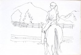 Untitled (Horseback rider), Illustration 23 in the book Sketchbook (Cheyenne, Wyoming)
