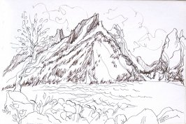 Jenny Lake, Illustration 25 in the book Sketchbook (Cheyenne, Wyoming)