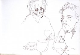 Untitled (Robert Emory Johnson and Dana), Illustration 33 in the book Sketchbook (Cheyenne, Wyoming)