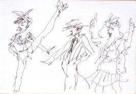 Untitled (Performers), Illustration 36 in the book Sketchbook (Cheyenne, Wyoming)