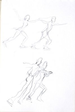 Untitled (Figure skaters), Illustration 37 in the book Sketchbook (Cheyenne, Wyoming)