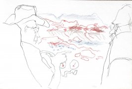 Untitled (Landscape from the back seat), Illustration 54 in the book Sketchbook (Cheyenne, Wyoming)