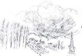 From the Train Near Ventimiglia, Illustration 3 in the book Sketchbook (Holland)