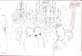 Intermission at the Concertgebeouw, Illustration 19 in the book Sketchbook (Holland)