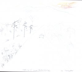 Highway 5 Near Bakersfield, Illustration 1 in the book November 1980: Ten Days in the Southwest (sketchbook)