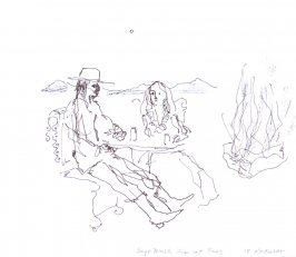 Sage Brush Inn at Taos, Illustration 6 in the book November 1980: Ten Days in the Southwest (sketchbook)