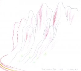 Zion National Park, Illustration 12 in the book November 1980: Ten Days in the Southwest (sketchbook)