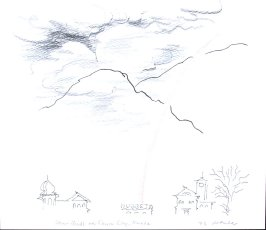Storm Clouds Over Carson City, Nevada, Illustration 16 in the book November 1980: Ten Days in the Southwest (sketchbook)