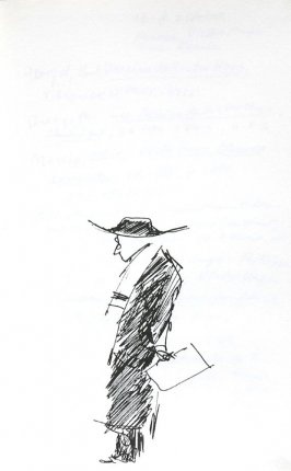 Untitled (Figure with sketchbook), Illustration 1 in the book Journal (Importance of Drawing, II)