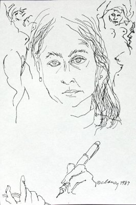 Untitled (Self-portrait), Illustration 1 in the book July 23-August 1, 1980: Ten Self-portraits (sketchbook)