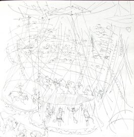 Untitled (Circus tent), Illustration 24 in the book Sketchbook (St. Helena)