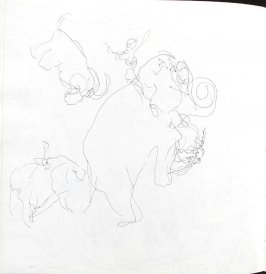 Untitled (Stefan Brecht), Illustration 40 in the book Sketchbook (St. Helena)