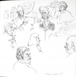 Auction, Illustration 29 in the book Sketchbook (St. Helena)