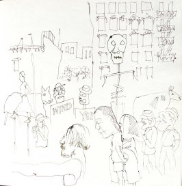 Untitled (Bread and Puppet Theatre), Illustration 32 in the book Sketchbook (St. Helena)