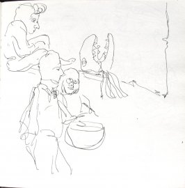 Untitled (Bread and Puppet Theatre), Illustration 36 in the book Sketchbook (St. Helena)