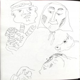 Untitled (Bread and Puppet Theatre), Illustration 37 in the book Sketchbook (St. Helena)