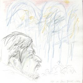 Hal at Stern Grove, Illustration 42 in the book Sketchbook (St. Helena)