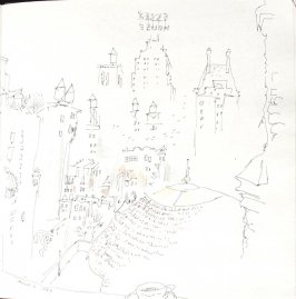 Untitled (Cityscape), Illustration 46 in the book Sketchbook (St. Helena)