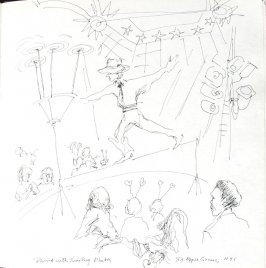 David With Twirling Plates, Illustration 47 in the book Sketchbook (St. Helena)