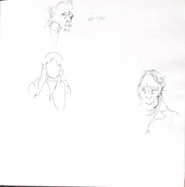 Untitled (Faces), Illustration 52 in the book Sketchbook (St. Helena)