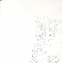 Untitled (Stove), Illustration 54 in the book Sketchbook (St. Helena)