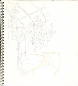 Untitled (Interior), Illustration 7 in the book Sketchbook (Europe and United States)