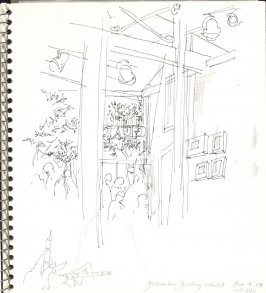 Glastonbury Gallery exhibit, Illustration 8 in the book Sketchbook (Europe and United States)