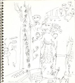 Edwardian Room, Plaza Hotel, Illustration 9 in the book Sketchbook (Europe and United States)