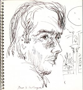 Pierre à la Coupole, Illustration 11 in the book Sketchbook (Europe and United States)