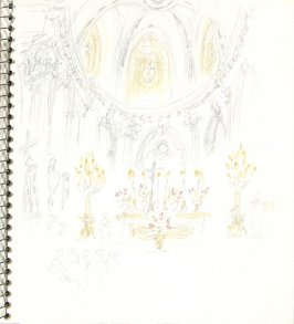 Untitled (Catholic Church), Illustration 17 in the book Sketchbook (Europe and United States)