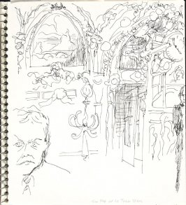 Tim Fox at Le Train Bleu, Illustration 20 in the book Sketchbook (Europe and United States)