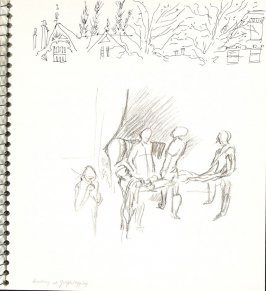 Looking at Graphlegging, Illustration 22 in the book Sketchbook (Europe and United States)