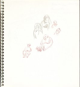 Untitled (Seated figures), Illustration 23 in the book Sketchbook (Europe and United States)