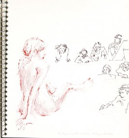 San Francisco Art Institute Friday Life Class, Illustration 25 in the book Sketchbook (Europe and United States)