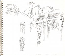 Cour Hotel Amelot, Illustration 11 in the book Sketchbook (Sylvia)