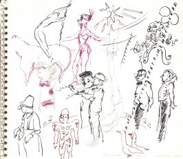 Cirque de Paris, Illustration 16 in the book Sketchbook (Sylvia)