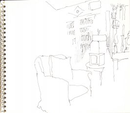 Untitled (Interior), Illustration 17 in the book Sketchbook (Sylvia)