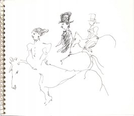 Untitled (Cirque de Paris), Illustration 27 in the book Sketchbook (Sylvia)