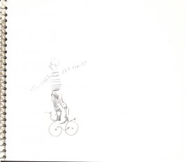Untitled (Circus performer), Illustration 30 in the book Sketchbook (Sylvia)