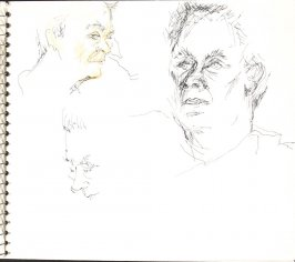 Untitled (Portrait studies), Illustration 32 in the book Sketchbook (Sylvia)