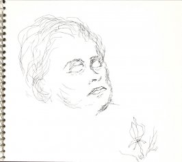 Untitled (Sylvia in her coffin), Illustration 35 in the book Sketchbook (Sylvia)
